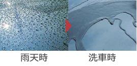 雨天時、洗車時