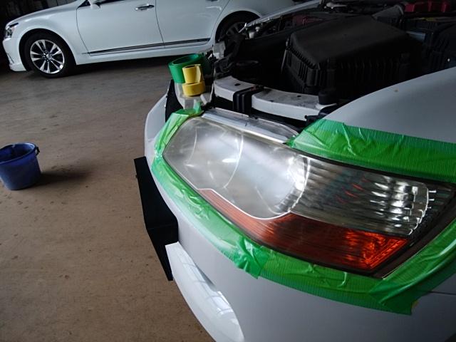 ミツピシ ランサーエボリューションワゴン ヘッドライト復元コート