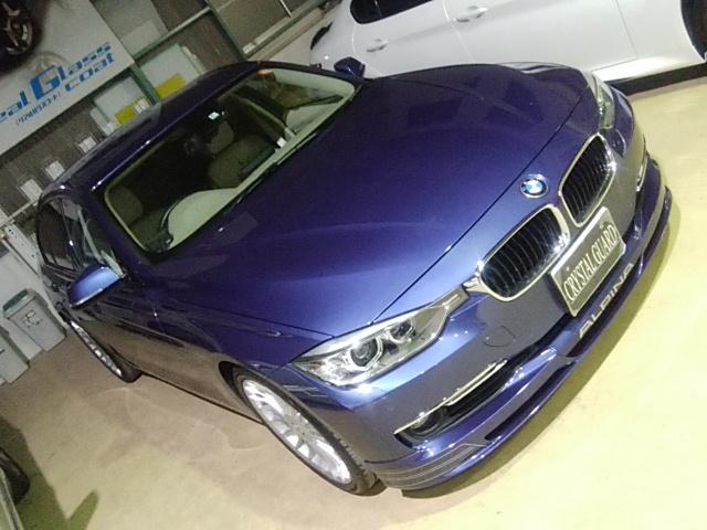 BMW アルピナ 塗料ミスト除去磨き